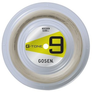 ポスト投函便【送料無料】ゴーセン GOSEN バドミントンストリング G-TONE 9(ジートーンナイン)100mロール BS0691|kpi