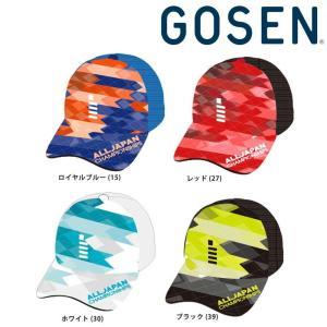 ゴーセン GOSEN テニスキャップ・バイザー 2018年 ALL 夏企画JAPAN オールジャパンキャップ グラフィック2 C18A06 『即日出荷』の商品画像 ナビ