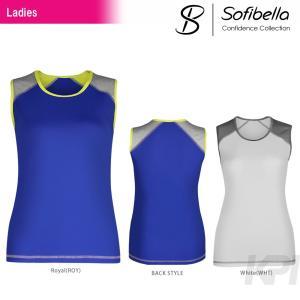 テニスウェア レディース ソフィベラ Sofibella Confidence Collection コンフィデンスコレクション Classic Sleeveless CO1453 SS|kpi