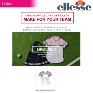 エレッセ Ellesse テニスウェア レディース カスタムレディスクルーシャツ 受注生産 ELLE18SS-CTL-2 2018SS[ポスト投函便対応]|kpi