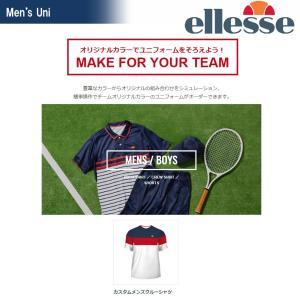 エレッセ Ellesse テニスウェア メンズ カスタムメンズクルーシャツ 受注生産 ELLE18SS-CTM-2 2018SS[ポスト投函便対応]|kpi