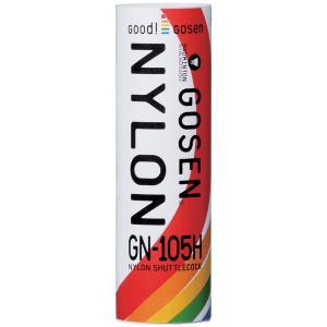 ゴーセン GOSEN バドミントンシャトルコック ナイロンシャトルコックGN-105H(1筒6コ入)|kpi