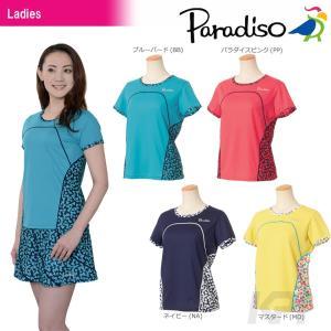 PARADISO パラディーゾ 「レディース半袖ゲームシャツ ICL04A」テニスウェア「2017FW」[ポスト投函便対応]|kpi
