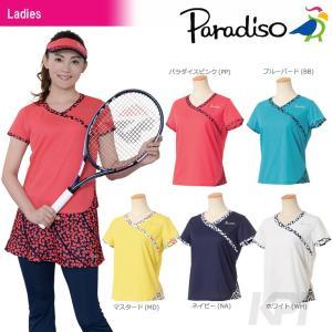 PARADISO パラディーゾ 「レディース半袖ゲームシャツ ICL05A」テニスウェア「2017FW」[ポスト投函便対応]|kpi