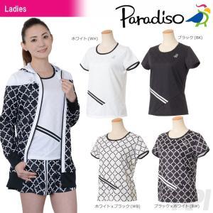 PARADISO パラディーゾ 「レディース半袖シャツ ICL72A」テニスウェア「2017FW」[ポスト投函便対応]|kpi