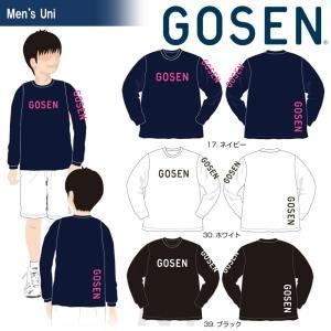ゴーセン GOSEN テニスウェア 2017年春企画Tシャツ 『プラクティス ロゴ』長袖 J17P07 「2017SS」「2017新製品」|kpi