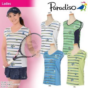 パラディーゾ PARADISO テニスウェア レディース 半袖ゲームシャツ JCL03A 2018SS[ポスト投函便対応]|kpi