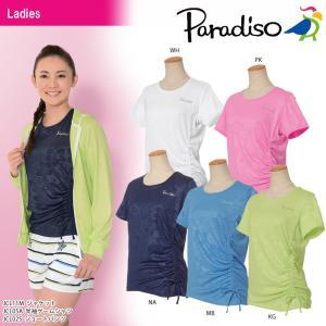 パラディーゾ PARADISO テニスウェア レディース 半袖ゲームシャツ JCL05A 2018SS[ポスト投函便対応]|kpi