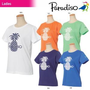 パラディーゾ PARADISO テニスウェア レディース 半袖プラクティスシャツ JCL21A 2018SS[ポスト投函便対応]|kpi