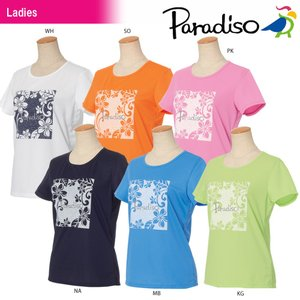 パラディーゾ PARADISO テニスウェア レディース 半袖プラクティスシャツ JCL24A 2018SS[ポスト投函便対応]|kpi