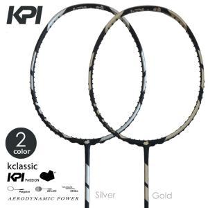 『即日出荷』KPI ケイピーアイ 「K classic Badminton バドミントンラケット SpaceGray / Gold」フレームのみ KPIオリジナル商品|kpi