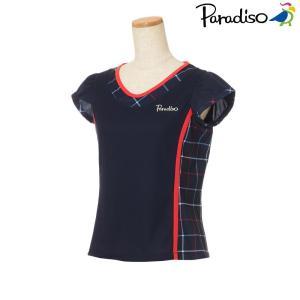 パラディーゾ PARADISO テニスウェア レディース 半袖シャツ KCL02A 2018FW[ポスト投函便対応]|kpi