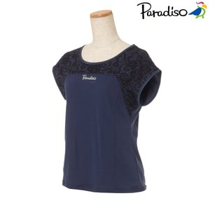 パラディーゾ PARADISO テニスウェア レディース 半袖シャツ KCL04A 2018FW[ポスト投函便対応]|kpi