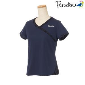 パラディーゾ PARADISO テニスウェア レディース 半袖シャツ KCL05A 2018FW[ポスト投函便対応]|kpi