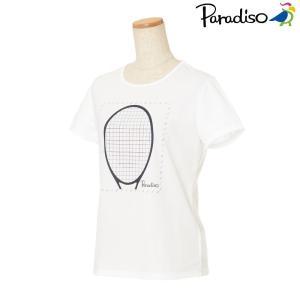 パラディーゾ PARADISO テニスウェア レディース 半袖シャツ KCL24A 2018FW[ポスト投函便対応]|kpi