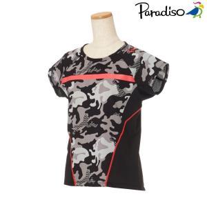 パラディーゾ PARADISO テニスウェア レディース 半袖シャツ KCL61A 2018FW[ポスト投函便対応]|kpi