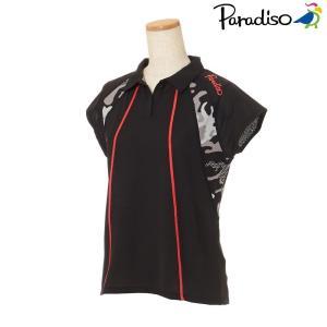 パラディーゾ PARADISO テニスウェア レディース 半袖シャツ KCL62A 2018FW[ポスト投函便対応]|kpi