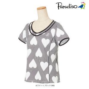 パラディーゾ PARADISO テニスウェア レディース 半袖シャツ KCL71A 2018FW[ポスト投函便対応]|kpi