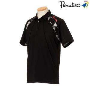 パラディーゾ PARADISO テニスウェア メンズ 半袖シャツ KCM01A 2018FW[ポスト投函便対応]|kpi