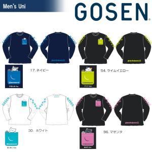 ゴーセン GOSEN テニスウェア ユニセックス 2019春企画Tシャツ pochaneco 長袖 ...