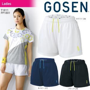 ゴーセン GOSEN テニスウェア レディース 星柄ゲームパンツ PP1801 2018SS[ポスト投函便対応]|kpi