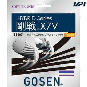 GOSEN ゴーセン 「ハイブリッド 剛戦X7V SS507」ソフトテニスストリング ガット [ポスト投函便対応]|kpi