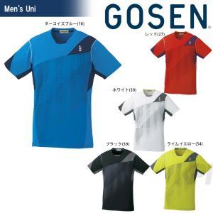 テニスウェア ユニセックス ゴーセン GOSEN ゲームシャツ T1616 2016FW 2017モデル