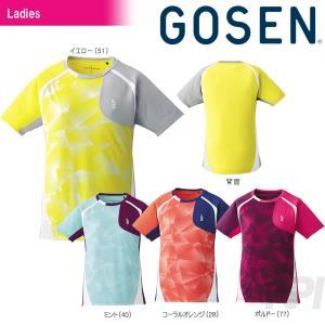 GOSEN ゴーセン 「レディース ゲームシャツ T1705」テニスウェア「2017SS」[ポスト投函便対応]|kpi