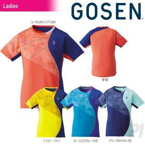 GOSEN ゴーセン 「レディース ゲームシャツ T1706」テニスウェア「2017SS」[ポスト投函便対応]|kpi