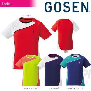 GOSEN ゴーセン 「レディース ゲームシャツ T1709」テニスウェア「2017SS」[ポスト投函便対応]|kpi