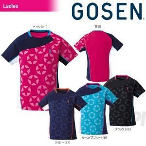 GOSEN ゴーセン 「レディース 星柄ゲームシャツ T1711」テニスウェア「2017SS」[ポスト投函便対応]|kpi