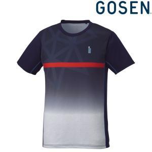 ゴーセン GOSEN テニスウェア ユニセックス ゲームシャツ T1824 2018FW[ポスト投函便対応]|kpi