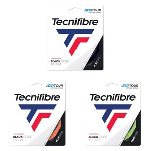テクニファイバー Tecnifibre テニスガット・ストリング  BLACK CODE  ブラックコード  1.24mm TFG411 [ポスト投函便対応]|kpi