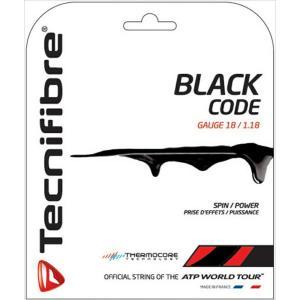 Tecnifibre テクニファイバー 「BLACK CODE ブラックコード  TFG503」硬式テニスストリング ガット [ポスト投函便対応]|kpi