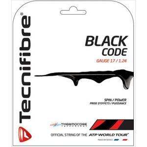 「2017新色登場」Tecnifibre テクニファイバー 「BLACK CODE ブラックコード  TFG504」硬式テニスストリング ガット [ポスト投函便対応]|kpi