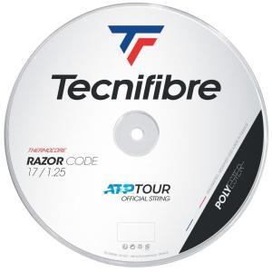 テクニファイバー Tecnifibre テニスガット・ストリング  RAZOR CODE  レーザーコード  1.25mm  200mロール TFR401|kpi