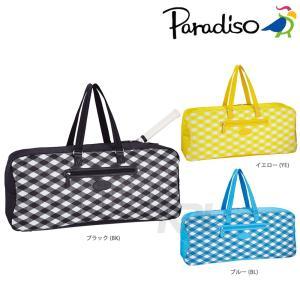 パラディーゾ PARADISO テニスバッグ SSチェック チェックワイドラケットバッグ16SS TRA611 KPI kpi