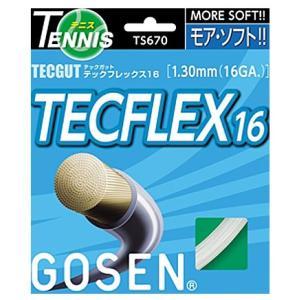 『即日出荷』 「均一セール」GOSEN ゴーセン 「テックガット テックフレックス16 ts670」硬式テニスストリング ガット [ポスト投函便対応]|kpi