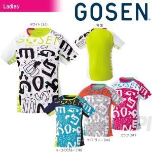 ゴーセン GOSEN テニスウェア レディース ファンプラシャツ UT1701 「2017SS」「KPI」「2017新製品」|kpi