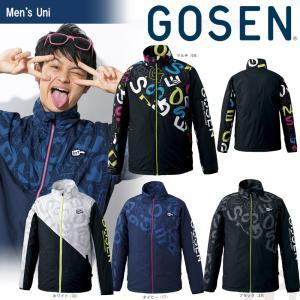 「2017新製品」GOSEN ゴーセン 「UNI ウィンドウォーマージャケット 裏起毛 UY1700」テニスウェア「2017FW」|kpi