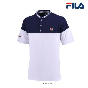 フィラ FILA テニスウェア メンズ ヘンリーネックゲームシャツ VM5389 2018FW 『即...