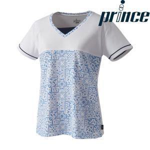 プリンス Prince テニスウェア レディース ゲームシャツ WL8079 2018FW[ポスト投函便対応]|kpi