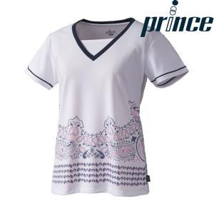 プリンス Prince テニスウェア レディース ゲームシャツ WL8082 2018FW[ポスト投函便対応]|kpi