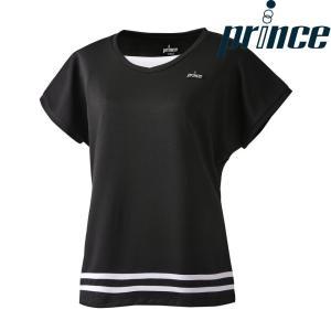 プリンス Prince テニスウェア レディース ゲームシャツ WL8090 2018FW[ポスト投函便対応]|kpi