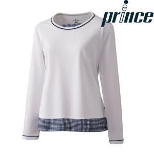 プリンス Prince テニスウェア レディース ロングスリーブシャツ WL8096 2018FW[ポスト投函便対応]|kpi