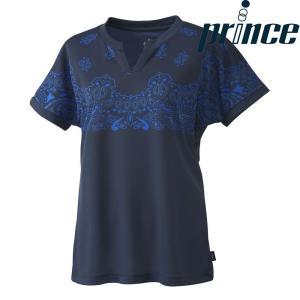 プリンス Prince テニスウェア レディース ゲームシャツ WL8152 2018FW[ポスト投函便対応]|kpi