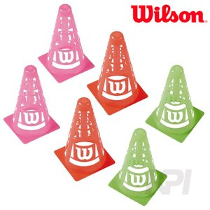 Wilson ウイルソン EZ イージー セーフティ・コーンズ 3色×各2個=6個セット  WRZ259500