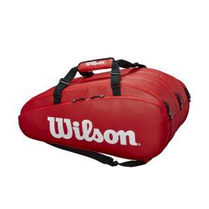 ウイルソン Wilson テニスバッグ・ケース  TOUR 3 COMP RED ラケットバッグ ラケット15本収納可能  WRZ847915|kpi