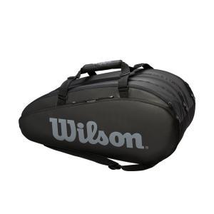 ウイルソン Wilson テニスバッグ・ケース  TOUR 3 COMP BKGY ラケットバッグ ラケット15本収納可能  WRZ849315|kpi