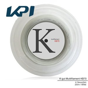 『即日出荷』 KPI ケイピーアイ 「K-gut Multifilament KB70 200mロール」バドミントンストリング ガット  KPIオリジナル商品[ポスト投函便対応]|kpisports